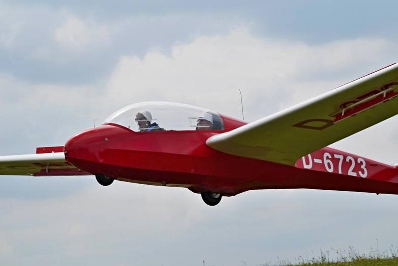 Segelflieger im Anflug
