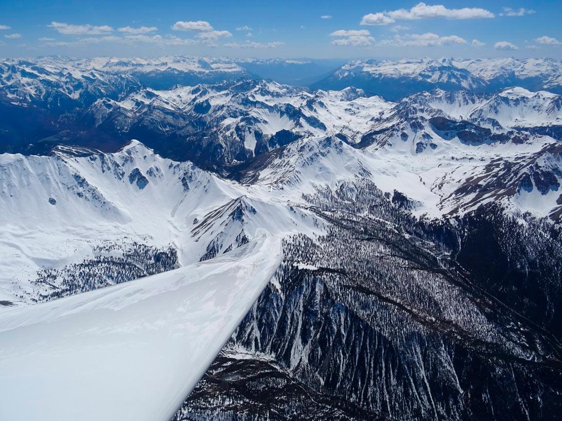 Über den französischen Alpen kurz vor Italien